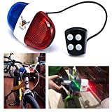 Itian® Bike LED Light Cycling Bike Electric Horn 4 Sounds 6 LED Cycling Police Siren Electric Lights Bike Equipment Accessories