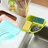 Volo Multipurpose Corner Kitchen Sink Wash Basin Storage Organizer Rack, Material -Plastic, Random Colors