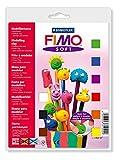 Original FIMO Soft Bastelset - Modelliermasse Basisset - farblich sortiert (9 x 25 g + Glanzlack + Zubehör)
