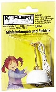 Kahlert 10.514 luz - Muñeca Mini Accesorios - Colgando hemisferio lámpara, de plástico Blanco
