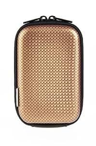 Carat Electronics Camera Mate Carbon Kameratasche (110 x 70 x 35 mm) mit Gürtelschlaufe gold