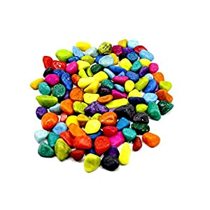 Adhiran Multi-Colour Aquarium Decor Pebbles