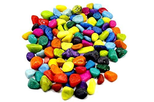 Adhiran Multi-colour Aquarium Decor pebbles