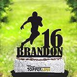 American Football Player Birthday Cake Topper, anpassbare Geburtstag Kuchen topperwit Name, American Football Party, Silhouette American Football Player, Acryl Kuchen Topper