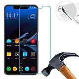 Lusee 2 x Pack verre Trempé Protège pour Elephone A4 5.85 pouce RÉSISTANT INDICE Dureté 9H 2.5D 0,3mm (Couvrir uniquement la partie plate)
