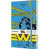 Moleskine Notebook Wonder Woman Edizione Limitata, Taccuino Copertina Rigida, Chiusura ad Elastico e Pagina a Righe Colore Azzurro, Dimensione Large 13 x 21 cm, 240 Pagine