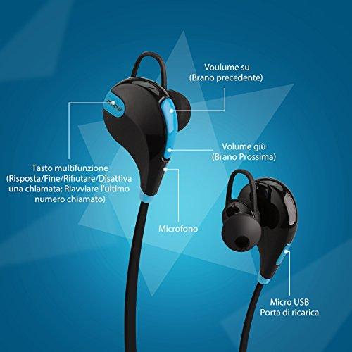 Mpow Swift Auricolari Wireless Bluetooth 4.0 Headset Stereo Cuffie ... 5df06e82ee87