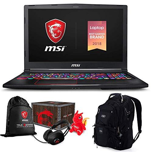 "i7 8750H 1920x1080 Keyboard ME2 Backpack - MSI GE63 Raider RGB-052 Premium Gaming Laptop (Intel i7-8750H, 32GB RAM, 2TB HDD + 2TB PCIe SSD, 15.6"" FHD 1920x1080 IPS Display, RTX 2070, RGB Keyboard, Win 10 Pro) MSI Loot Box and ME2 Backpack"