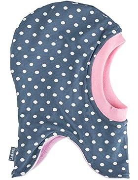 Lilakind Schlupfmütze Mütze Babymütze Kindermütze Wintermütze Jersey Nicki gefüttert Grau Rosa Punkte Weiß - Made...
