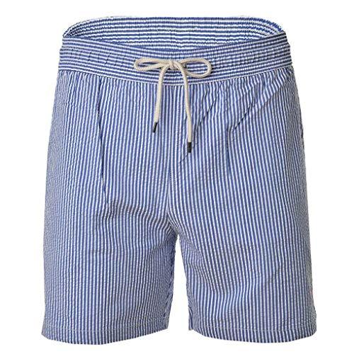 Polo Ralph Lauren Herren Badeshorts - Traveler-Swim, Badehose, Mesheinsatz, blau-weiß gestreift (XL (X-Large)) (Lauren Ralph Polo Herren Badehose)