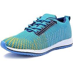LeatherKraft Men's Sports Running Shoes (8, Sky)