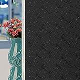 TieZ Pellicola di Vetro ombreggiatura Nera Pellicola Opaca di Illuminazione per Camera da Letto con Pellicola Isolante per vetri Oscurante per finestre (Colore : B, Dimensioni : 80x200cm)