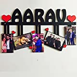 #5: Unique Stuff Personalized Photo Name Collage Letter Collage Alphabet(Any Name) Collage Photo Gift Frame Personalised & Customised Gifts For Him Her Family Friends Father Mother Sister Brother Couple Spouse Wife Husband Baby Girlfriend Boyfriend Valentine'S Day Loved Ones Birthday Anniversary Wedding & Marriage