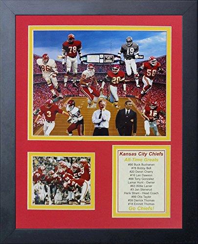 Legenden Sterben Nie Kansas City Chiefs-Größen gerahmtes Foto Collage, 11von 35,6cm