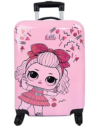 Sorpresa OL! Custodia rigida per valigie per trolley da viaggio per ragazze rosa