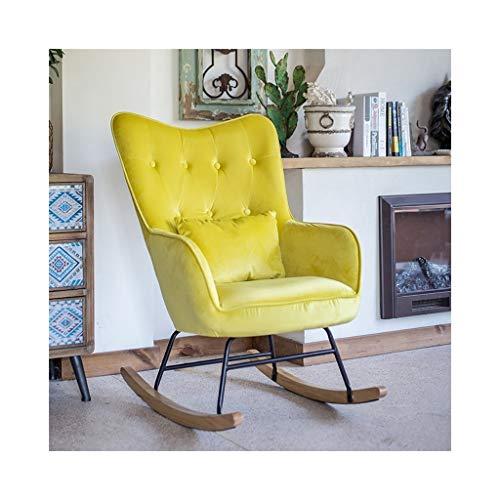 HYYTY-Y Home Single Sofa Schaukelstuhl, erweiterte Rückenlehne Terrasse Freizeit Sessel, mehrere Farben 711-YY (Color : Yellow) -
