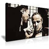 Godfather Movie Don Vito Corleone Gespannte Leinwand Druck 76cm x 50cm