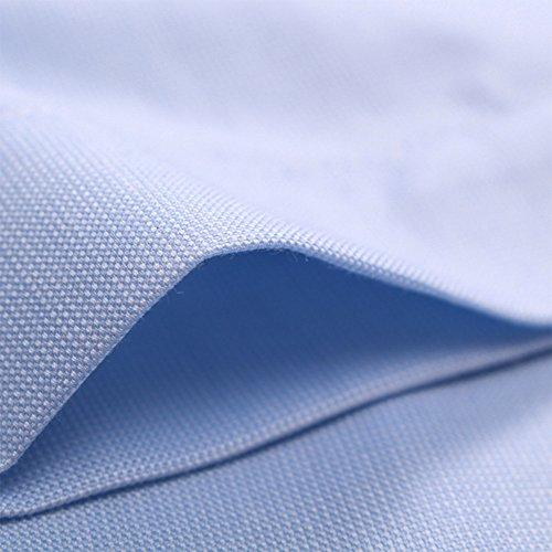 Bmeigo Uomo no stiro Slim Fit manica corta Camicie classiche -H06 Blue
