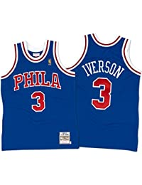 Allen Iverson Philadelphia 76ers Mitchell & Ness Authentic 1996 Blue NBA Jersey Maillot