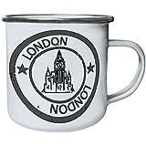 Nuevo Sello De Londres Inglaterra Retro, lata, taza del esmalte 10oz/280ml m275e
