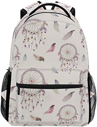 COOSUN Dreamcatcher Et Motif de plumes Sac à dos Casual école Voyage Daypack Multicolore B07CM1P35V | La Qualité Des Produits