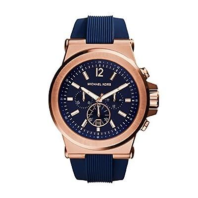 Michael Kors MK8295 - Reloj para hombres, correa de silicona color azul de Michael Kors