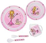 Bieco 04000265 - Kinder Ess - Set Prinzessin, 5-tlg.