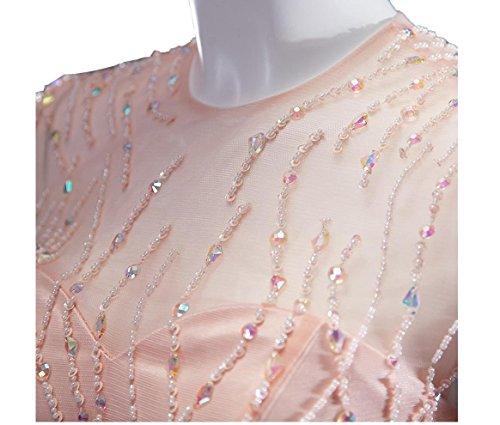 Beauty-Emily -  Vestito  - fasciante - Maniche corte  - Donna Rosa