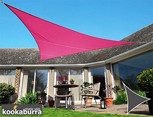 Voile d'Ombrage Rose Triangle 5m - Imperméable - 160g/m2 - Kookaburra