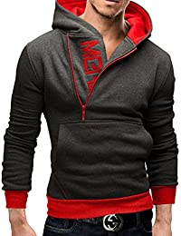 MERISH Herren Hoodie Kapuzenpullover Sweatshirt Logo Modell 60