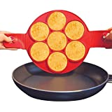 House Of Quirk Non Stick Pancake Ring Mold Flipper (Seven Holes)