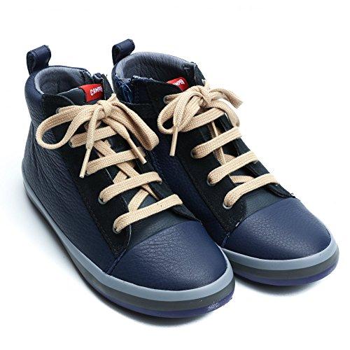 Camper Kids Pursuit Hi -Top Sneaker Denim Blue
