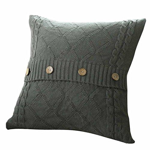 Jamicy 45cmX45cm maglieria gettare cuscino casi Cafe divano letto casa cuscino decorazione copertina Grigio scuro