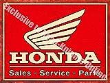 Honda Soldes Pièces De Service Auto Moto Métal/Panneau Mural Métalique - 20 x 30 cm