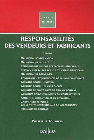 Responsabilité des vendeurs et fabricants