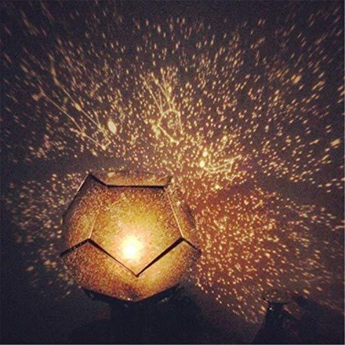 ELEGENCE-Z Lampada da proiezione, Proiettore Stelle Romantico a Quattro Stelle, Vigilia di Natale, Luce Notturna a LED di Natale - Luce Bianca