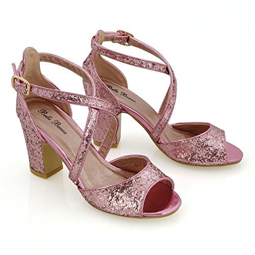 Essex Glam - Chaussures À Talons Hauts Avec Bride À Talons Pour Femme