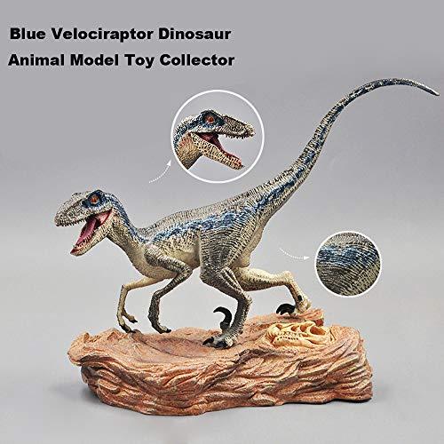 Squeeze-dynamo (Mitlfuny Kawaii Langsam Dekompression Creme Duftenden Groß Squishy Spielzeug Squeeze Spielzeug,Blaue Velociraptor-Dinosaurier-Action-Figur mit Tiermodell-Spielzeugsammler)