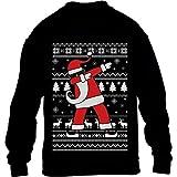 Kids Weihnachten Geschenk Dab vom Weihnachtsmann Kinder Pullover Sweatshirt XL 152/164 Schwarz
