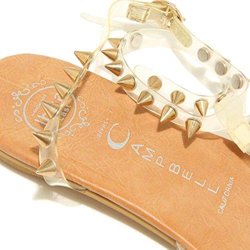7851F sandalo trasparente oro JEFFREY CAMPBELL RUBICON scarpa donna shoes women trasparente