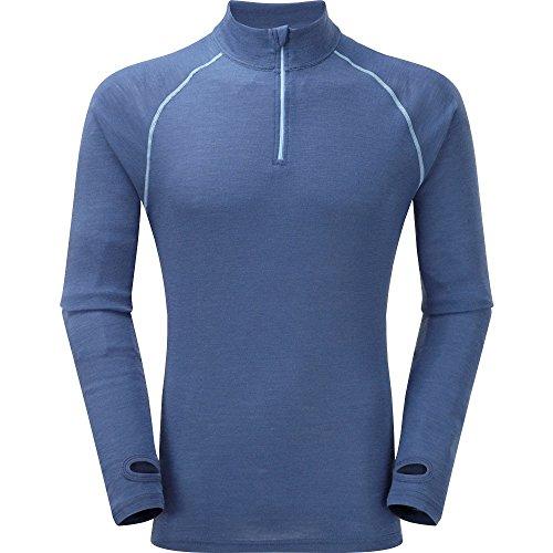 Trekmates Langärmiges Shirt für Herren, Reißverschluß Blau - blau