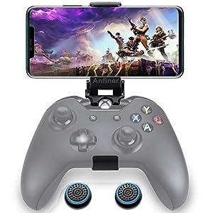 Anfiner Faltbare Handy-Halterung/Smartphone-Klemme/Spiele-Clip für Microsoft Xbox One/Xbox One S/Xbox One X/Steelseries Nimbus Wireless-Bluetooth-Controller
