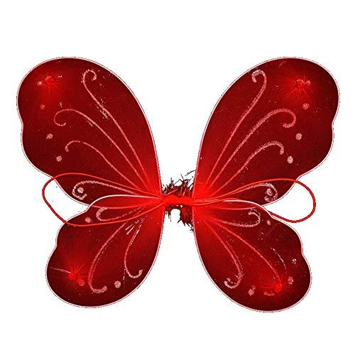 Ouken 1Pcs Bunte Schmetterlings-Winkel Wings Kindertages Stage Performance Kostüm ()