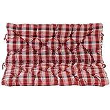 Ambientehome 2Banco Asiento y respaldo cojín cojines, cuadros rojo, ca 120x 98x 8cm, para banco, cojines acolchados
