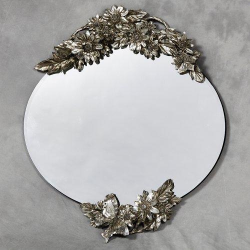 Stunning Modern Frameless Oval Butterfly Orchard Mirror