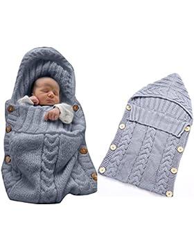 Neugeborenes Baby Gestrickt Wickeln Swaddle Decke Schlafsack für 0-12 Monat Baby