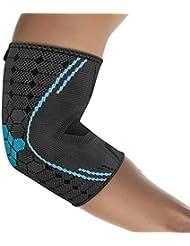 Bonmedico® - Coudière Farko (NOUVEAU !), manchette de compression pour le bras pour meilleure circulation sanguine, support de bras pour épicondylite, hommes/femmes (S) (coude gauche/droit)