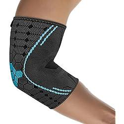 bonmedico Farko Ellenbogen-Bandage mit Kompressionsgestrick, Gelenk-Bandage L