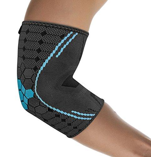 bonmedico Farko Ellenbogen-Bandage mit Kompressionsgestrick, Gelenk-Bandage S