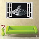 Her Zii Extra Large 3d spacecraft wall stickers home decor living room space diy mural art decals removable wall sticker by HerZii